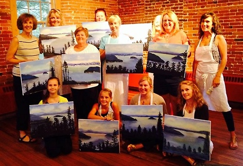 Wine & Design Paint Night