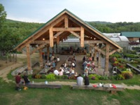 Beans & Greens event Pavilion for dances, weddings, parties