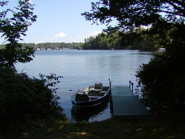 View from private dock.