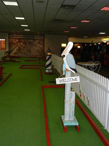 Our indoor mini-golf is a popular winter time attraction.