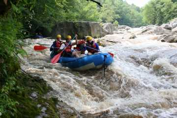 Upper Yough River Double Offset ledges rapid