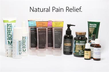 A full line of pain relief products made form natural ingredients.