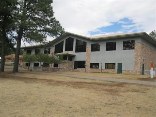 Ruidoso Public Library, view from the walking trail around The Links