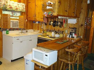 Kitchen in Sandy's Cottage