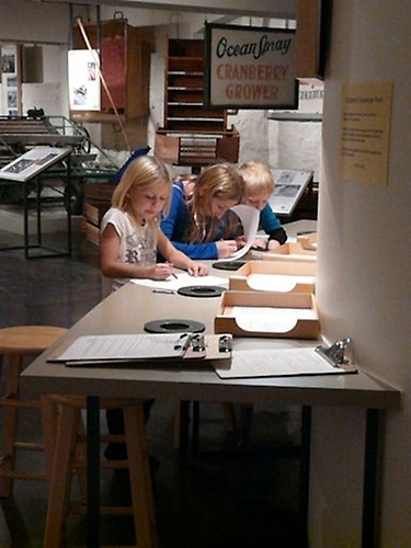 Young visitors at our activity table