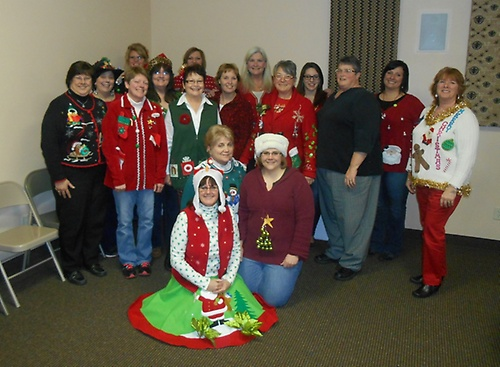Christmas party 2014-Ugly sweater contest