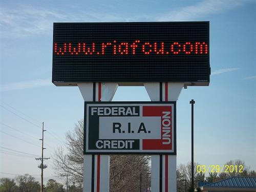 Watch our sign for updates on interest rates and community events.