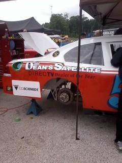 Dean's Satellite sponsored local racer Tim Schendel's Nationwide car
