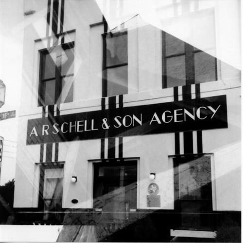 Schell Building - double exposure