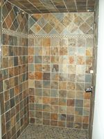 Slate Shower Walls and Floor