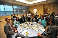 2011 Citizen of the year - Dan Hamilton, Tracy Huebner, Jason Huebner and attendees from Forest Hills at the 2011 Citizen of the Year Awards Banquet