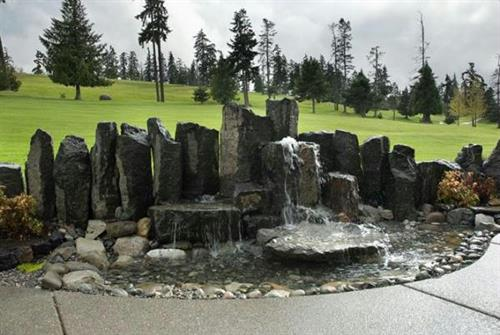Our beautiful Golf Course Fountain, also designed by Vision Landscaping