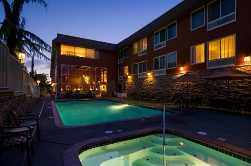 Our outdoor heated pool and hot tub are open year-round