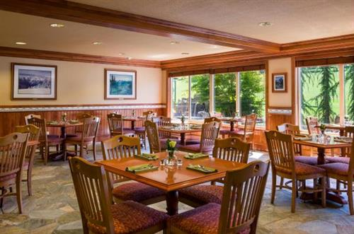 The Bistro at the Olympic Lodge is open for breakfast every day from 6-10