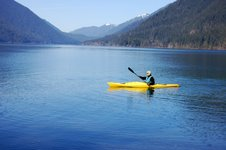 Kayaking Lake Crescent