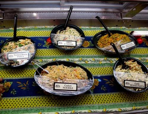 Fresh made salads daily in the Deli (Photo courtesy R. Moses)