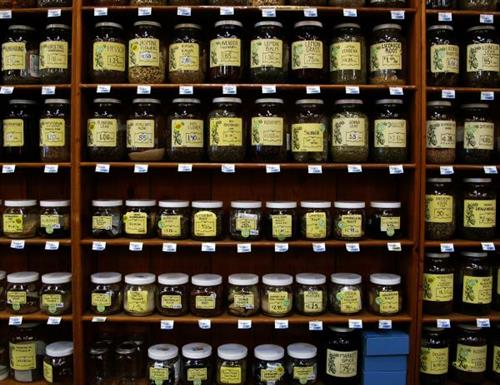 The Peninsula's largest selection of bulk herbs and spices. (Photo courtesy R. Moses)