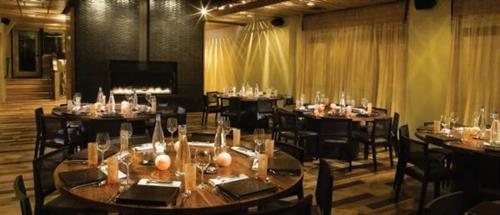 Fireside room- seated events for up to 82; reception-style events for up to 100