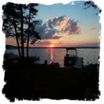 Beautiful sunset's to be seen from your lakeside cabin.