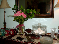 The Brenham House refreshments on the buffet in the dinning room