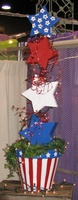 Patriotic-Large Plant Stand - To Order the Plant Stand: Click on ''Highlights'' then ''Plant Stands''