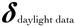 Daylight Data