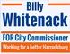 Billy Whitenack for City Commissoner