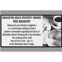 Manhattan Beach Property Owners Free Breakfast