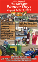 41st Annual This Old Farm Pioneer Days