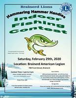 Hammering Hammer Handles Indoor Fishing Contest