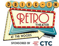 Retro Drive In Movie Theater at The Woods