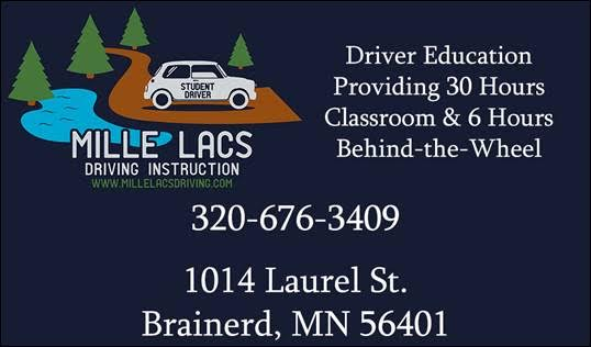 Mille Lacs Driving Instruction