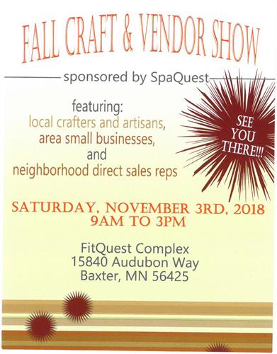 Fall Craft and Vendor Show - Nov 3, 2018 - Brainerd Lakes