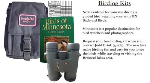 Bird watching kits for tours