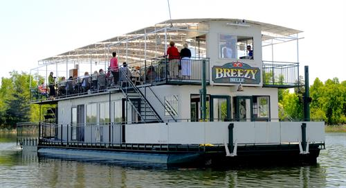 The Breezy Belle 100-passenger genuine paddle-wheeler.