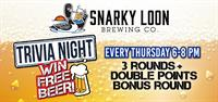 TRIVIA NIGHT EVERY THURSDAY at Snarky Loon Brewing Co