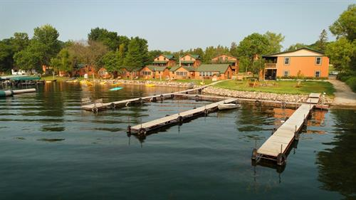 Charming lake level cabins