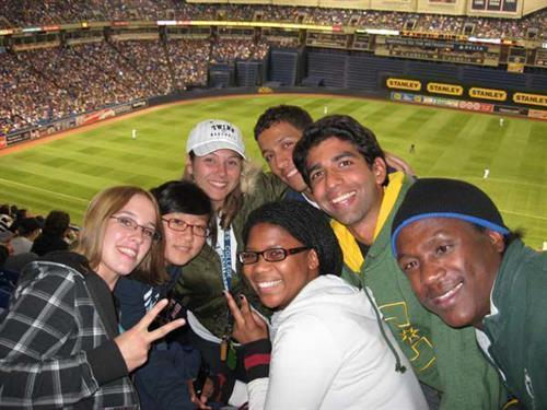 CLC International Students experience the MN Twins