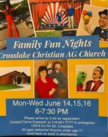 Family Fun Nights at Crosslake Christian AG Church