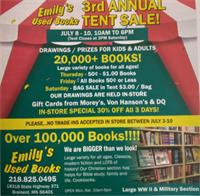 Emily's Used Books 3rd Annual Tent Sale