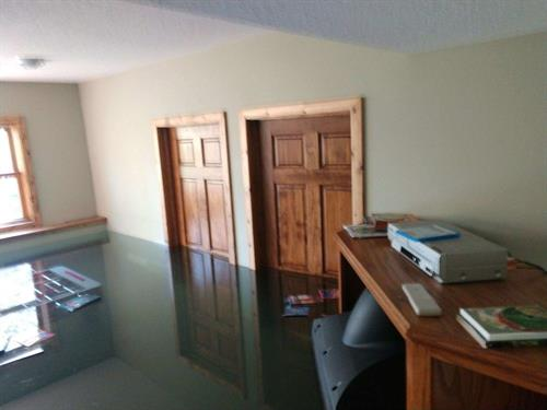 The results of a pipe burst on main level in Brainerd.