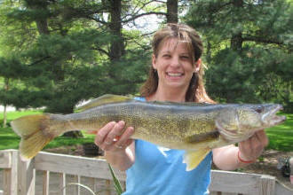 A Memorial Weekend Walleye caught at Shing Wako Resort on Lake Edward!