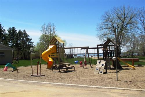 Kids love the playground, it's near the beach too!