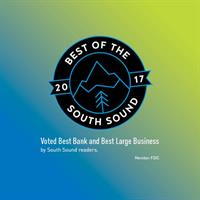 Best Bank and Best Large Business, voted by South Sound Readers