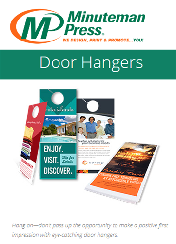 Get back to the future with marketing locally...Door Hangers get noticed and we offer recyclable stocks!