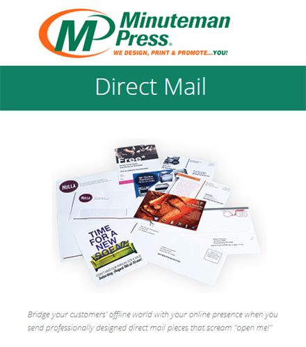 Get noticed with higher open rates; Direct Mail Campaigns with impact - Variable Data and social media integration! https://www.puyallup.minutemanpress.com/products-services/direct-mail.html