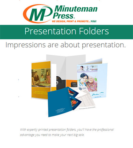 Presentation Folios for that Professional touch. https://www.puyallup.minutemanpress.com/products-services/presentation-folders.html