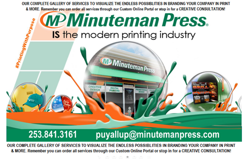 "Minuteman Press "" Get a helicopter overview of our vast amount of Print / Branding Services!"