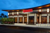 This 7,800 square foot Benihana restaurant in Boca Raton, FL. needed to be designed to withstand hurricane level winds (160mph-ish). The use of SIPS for the roof and walls met this national restaurant chain's requirement, giving them the comfort of knowing their building is strong