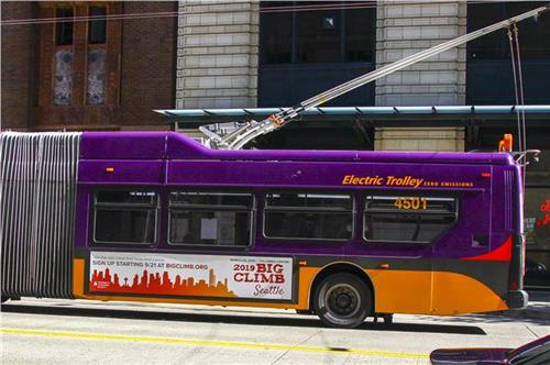 Bus ads created for The Leukemia & Lymphoma Society's 2019 Big Climb event.